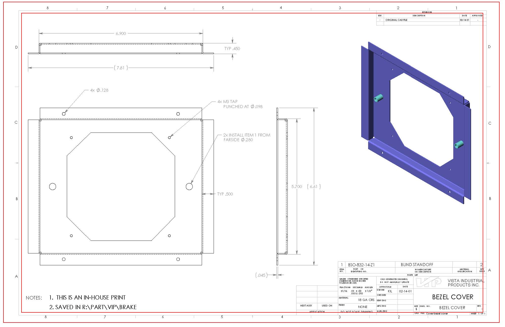 How to read a manufacturing drawing vista industrial products inc blueprint zone letters and numbers malvernweather Image collections