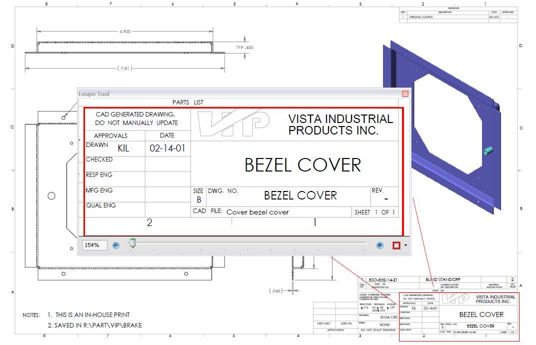 How to read a manufacturing drawing vista industrial products inc the following information is located within the title block in the lower right hand corner of a blueprint as shown above malvernweather