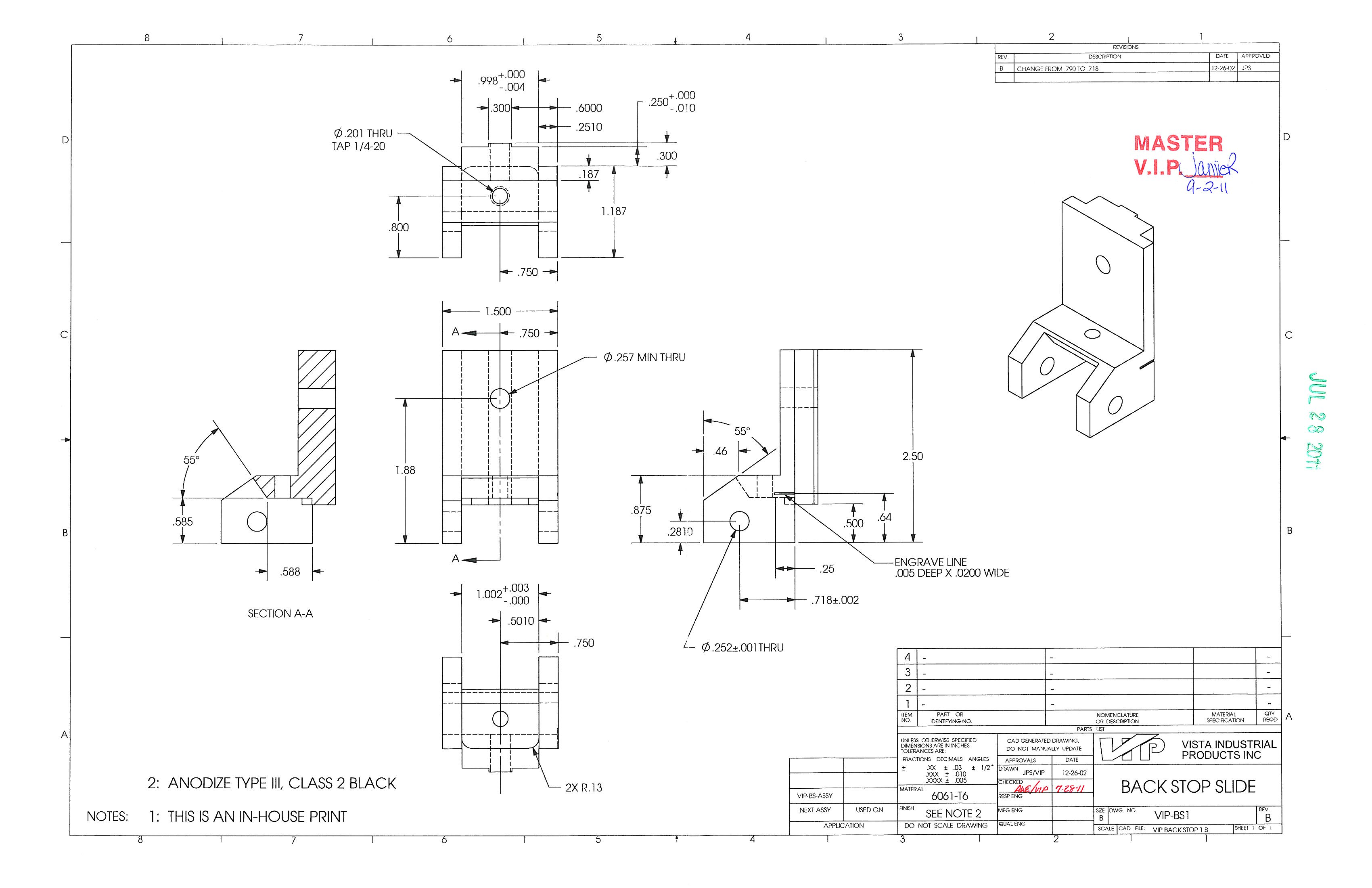 How to read a manufacturing drawing vista industrial products inc malvernweather Images