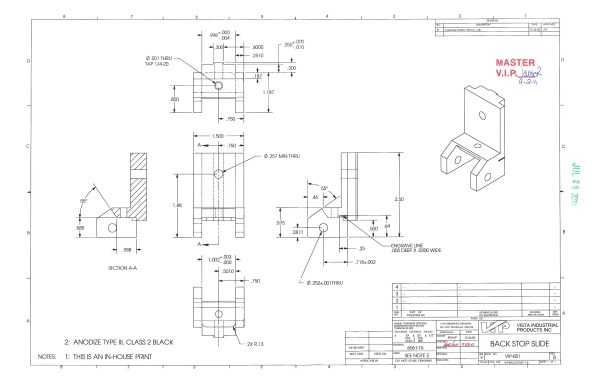 How to Read a Manufacturing Drawing | Vista Industrial Products, Inc