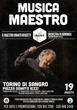 """A Torino di Sangro """"Musica Maestro"""", ecco il programma dell'evento"""