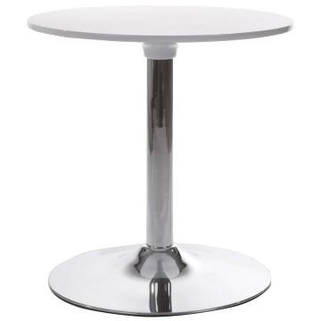 table basse ronde blanche style tulipe mars vistadeco