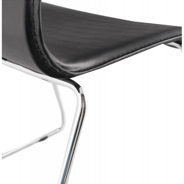 chaise noire solide confortable et design glasgow