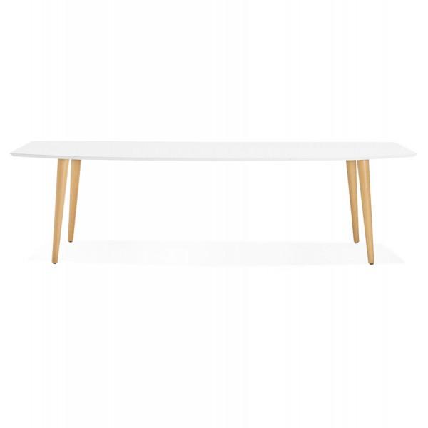 grande table blanche extensible style scandinave etenda