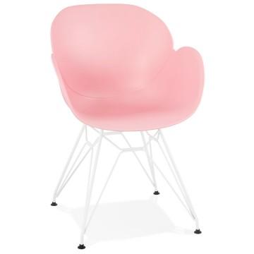 chaise rose solide originale et confortable provoc vistadeco