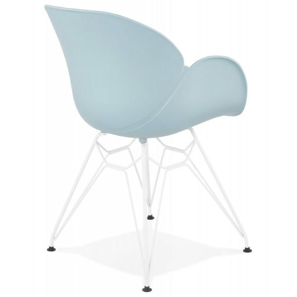 chaise bleue solide originale et confortable provoc