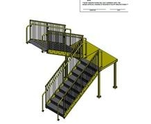 Prefab Stairs Metal Stairs Industrial Equipment For Sale | Prefabricated Exterior Metal Stairs | Stair Case | Stairways | Aluminum | Wrought Iron | Stair Treads
