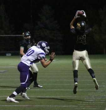 senior Jordan Faraci catches a touchdown scoring pass.