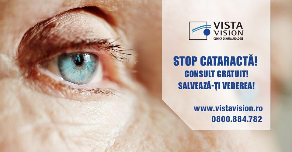 Stop cataractă! Consult gratuit! Salvează-ți vederea!