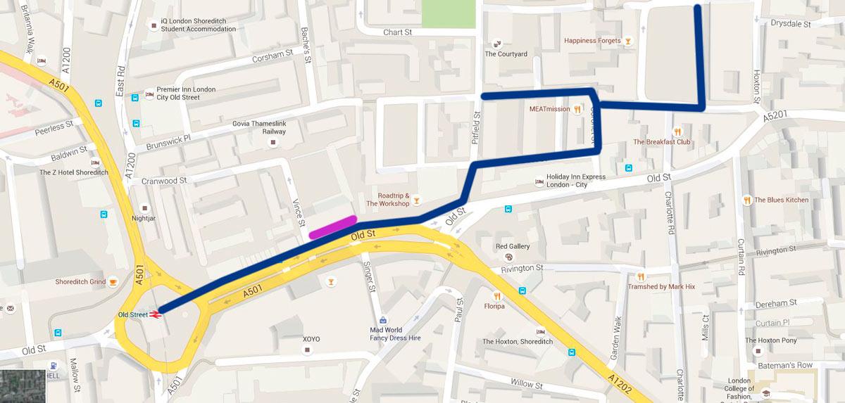 London Street Fashion Photography Map Shoreditch