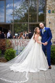 Newlyweds Outside Church