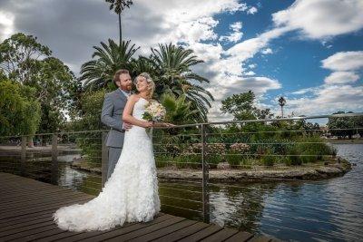 Colourful Wedding Portrait of the Newlyweds