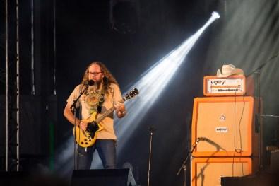 Kent Stump avec Wo Fat au Hellfest le 17 juin 2016