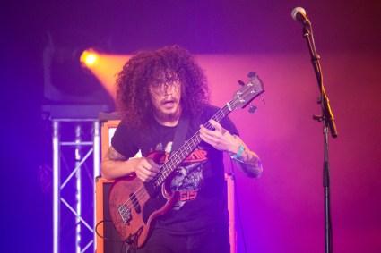 Jake Figueroa avec Crobot au Hellfest le 18 juin 2016