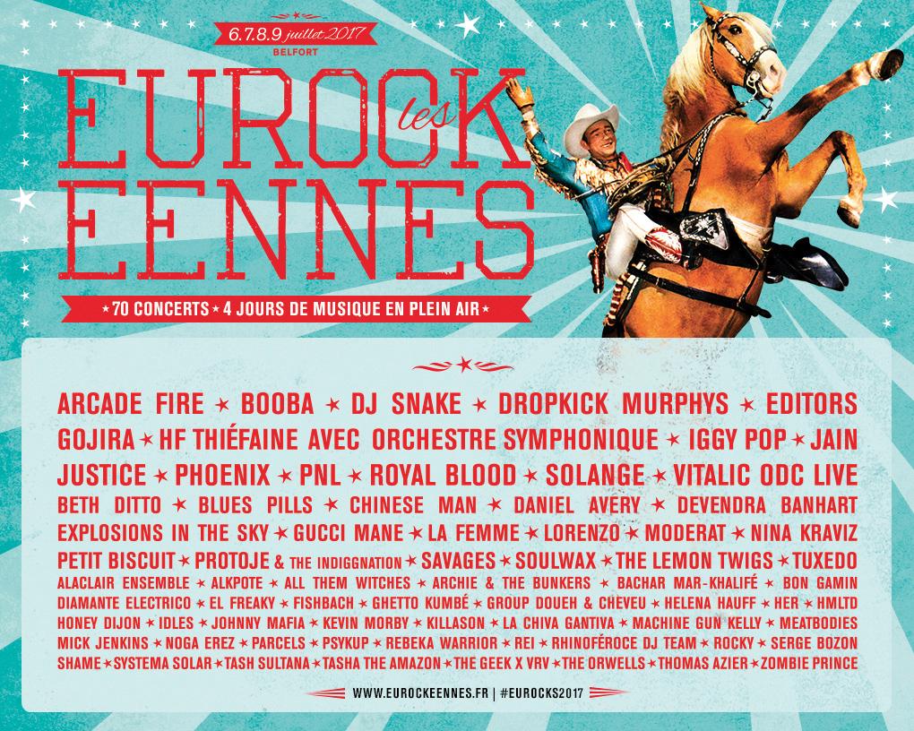 festival eurockéennes programmation 2017