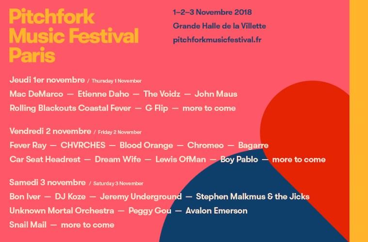 pitchfork music festival paris programmation 14 nouveaux noms