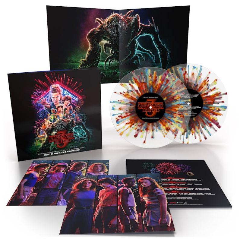 Stranger Things Saison 3 Vinyl Fireworks Splatter