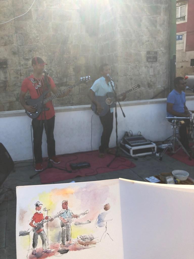 Lissabon: Musiker auf der Straße