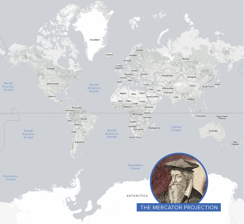 The Mercator Projection Map