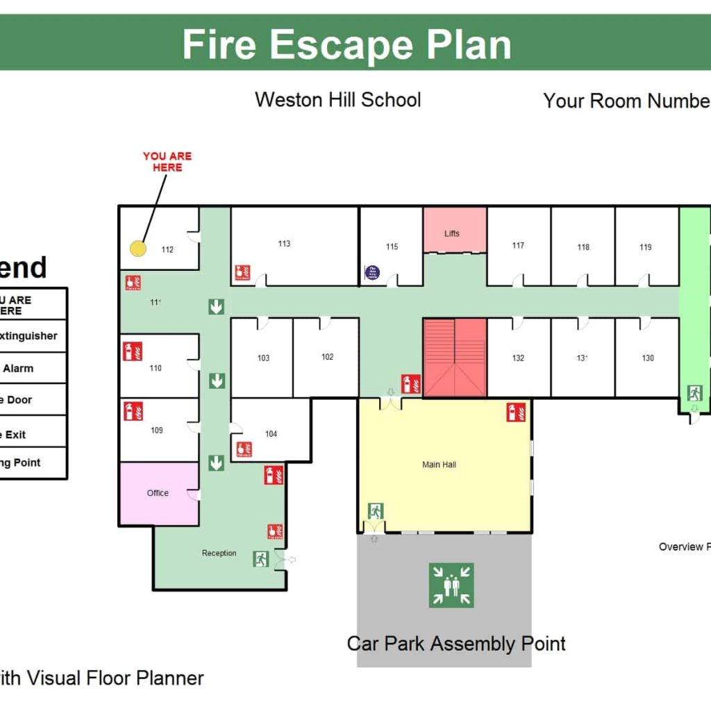 Fire Escape Floor Plans Visual Floor Planner