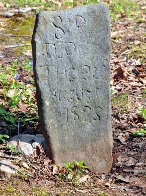 Gravestone, Sparks Cemetery