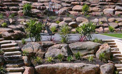 Moss Rock Retaining Walls Adelaide