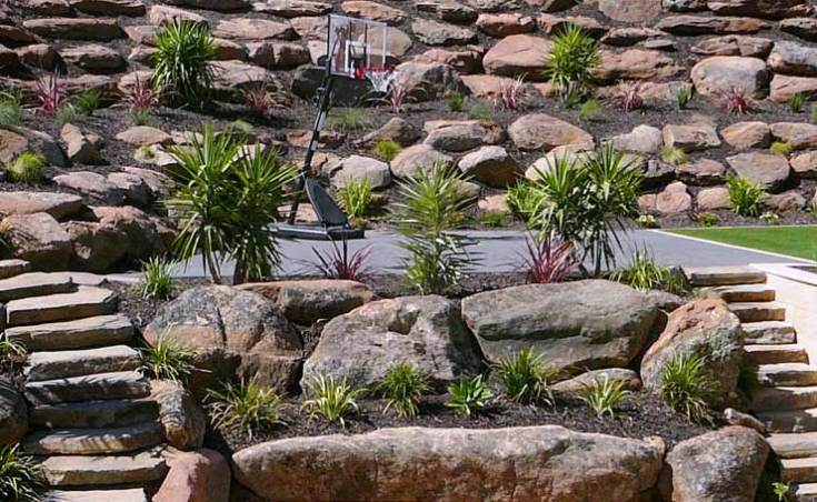 Moss Rock Retaining Walls Adelaide