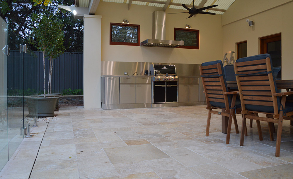 Paving Under An Alfresco Outdoor Living Room