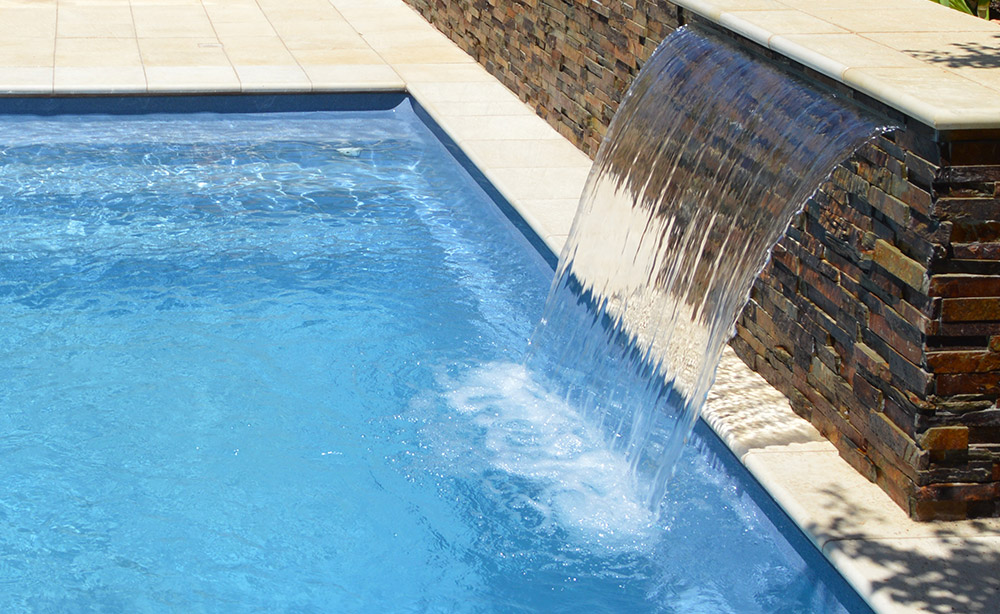 Paving And Landscaping | Pool Water Feature