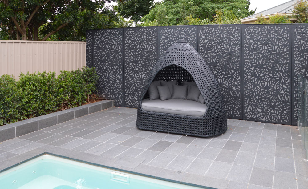 Laser Cut Privacy Screen Garden Feature