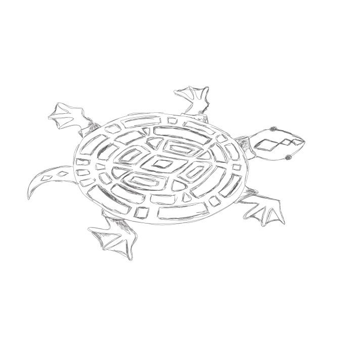 turtle, pencil