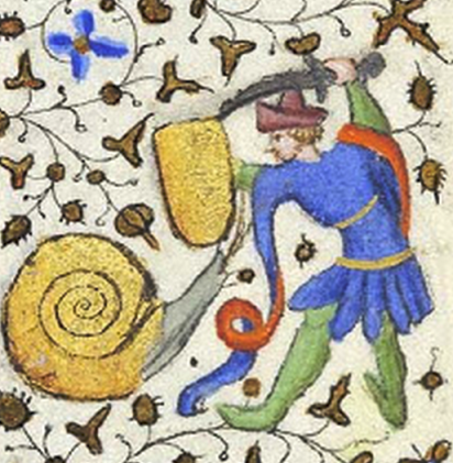 medieval knight vs snail