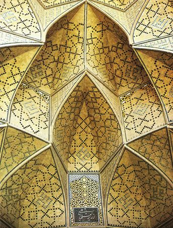 Detail from the Seljuk Friday mosque at Isfahan.