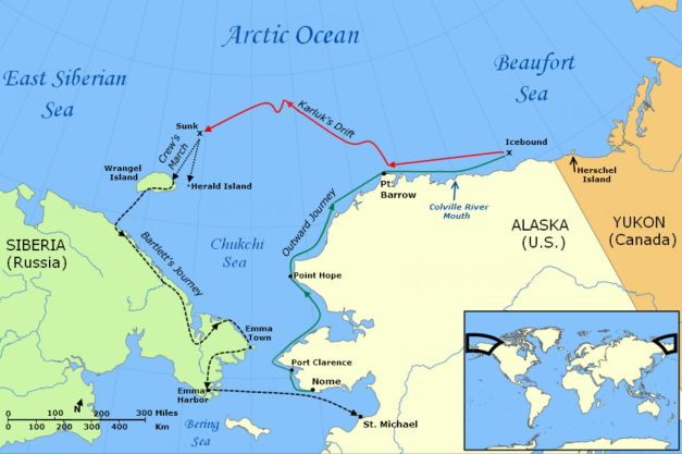 The journey and drift of the Karluk