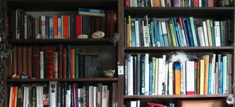 part of my bookshelf – you could get lost
