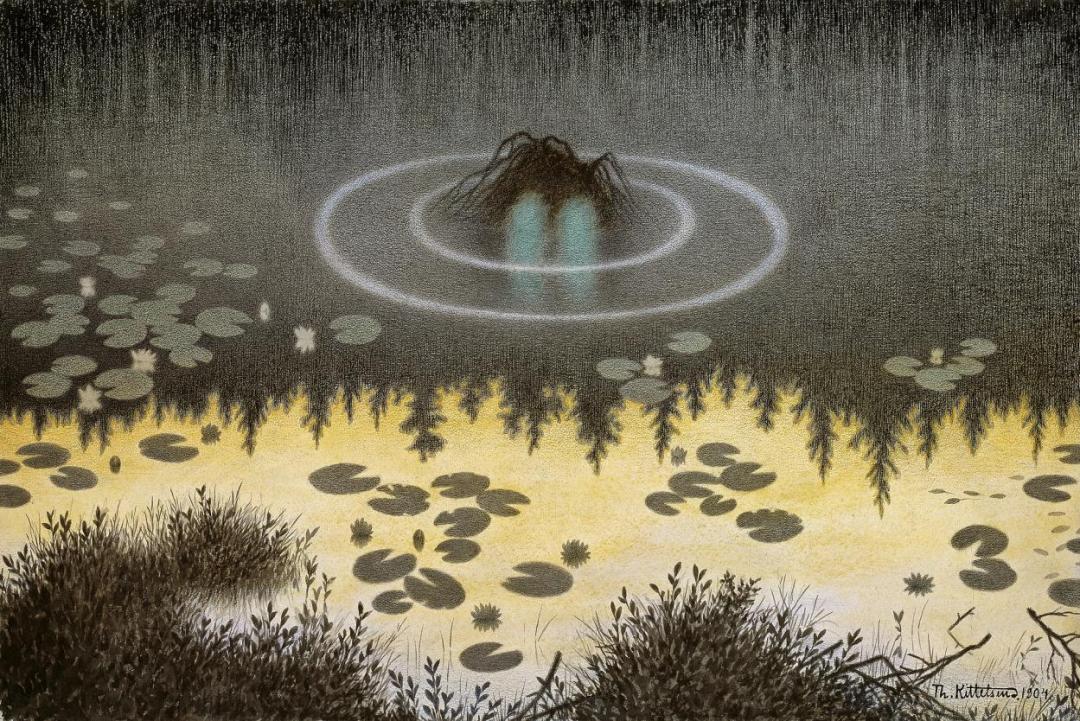 Nøkken – the water spirit. Theodor Kittelsen
