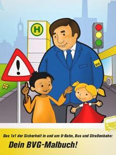 Illustrationen für das BVG-Malbuch Verkehrserziehung