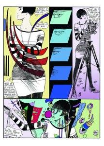"""Tavola tratta dalla storia """"Il falso Kandinsky"""" del 1991, colorata da Archivio Crepax"""