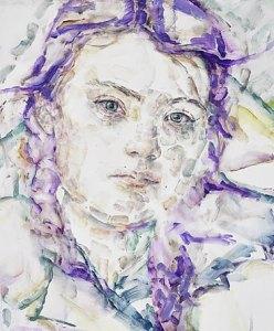 Elisabeth Peyton Greta 2019 oil on board 43.5x 35.6x2.9cm Peter Morton, Los Angeles, © Elisabeth Peyton Courtesy the artist and Gladstone Gallery, New York and Brussels