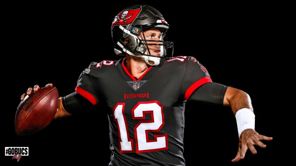 Tom Brady in maglia Tampa Bay Buccaneers