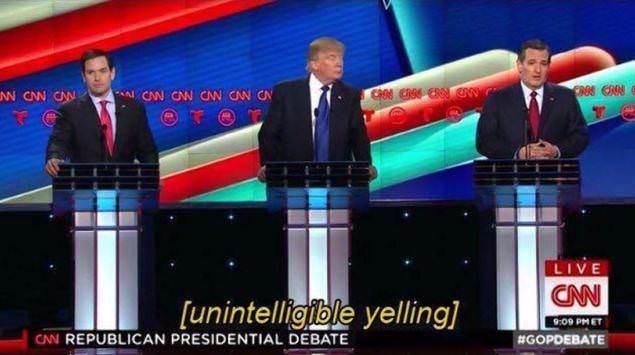 Closed Captioning: Unintelligible yelling pic is fake