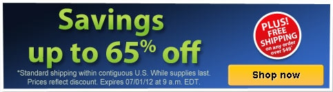Savings up to 65% off