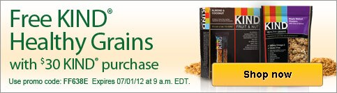 Free KIND Healthy Grains bars with qualifying purchase