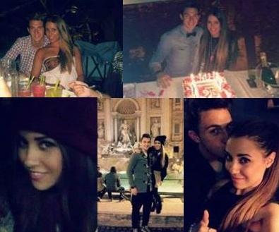 Matteo Darmian e fidanzata  Francesca