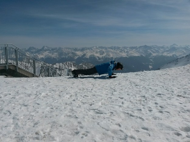 flessioni nella neve