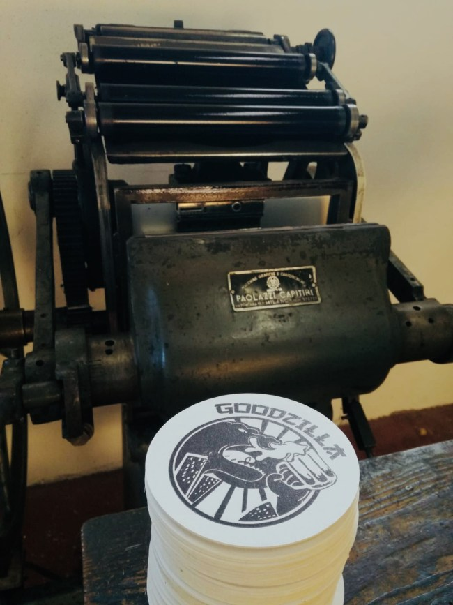 Sottobicchieri Letterpress a Frosinone. Stampa tipografica a caratteri mobili