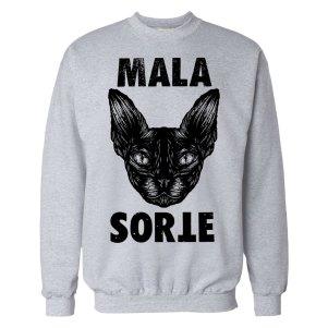 mala-sorte grey hoodie