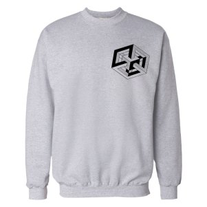 square-gray crewneck