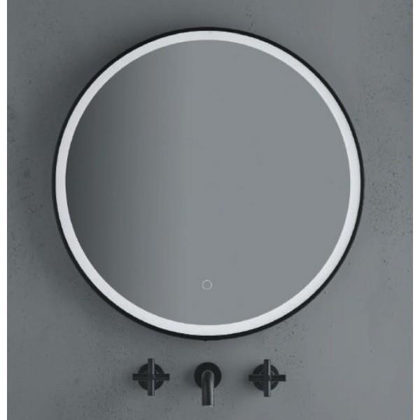 miroir rond diam 60 black touch sensor on off cristina ondyna mbmoon60