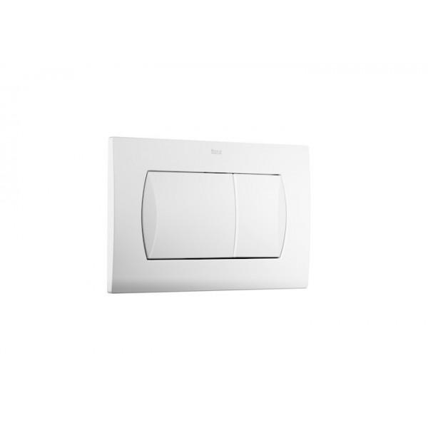 plaque de commande double chasse pour wc suspendu in wall 62 dual blanc roca a8901160b0